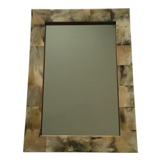 Horn Mosaic Wall Mirror For Sale