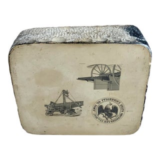 Antique Printing Block Stone, Farm Scenes For Sale