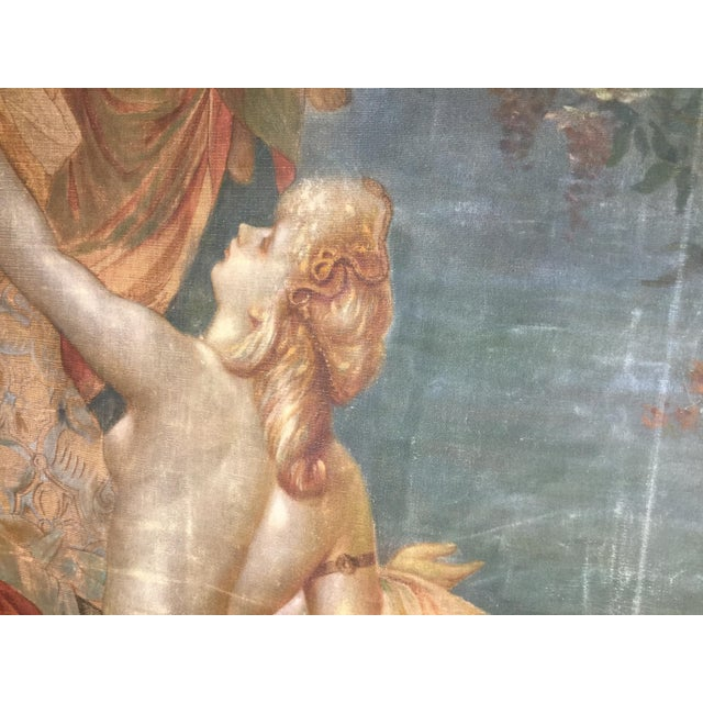 19th Century French Aubusson Tapestry Cartoon For Sale - Image 9 of 13
