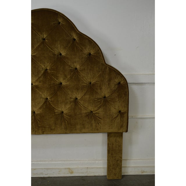 Robert Allen Tufted Upholstered Full Size Headboard For Sale - Image 9 of 9