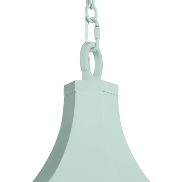 Traditional Bennington Lantern, Palladian Blue For Sale - Image 3 of 4
