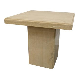 Art Deco Travertine Side Table For Sale