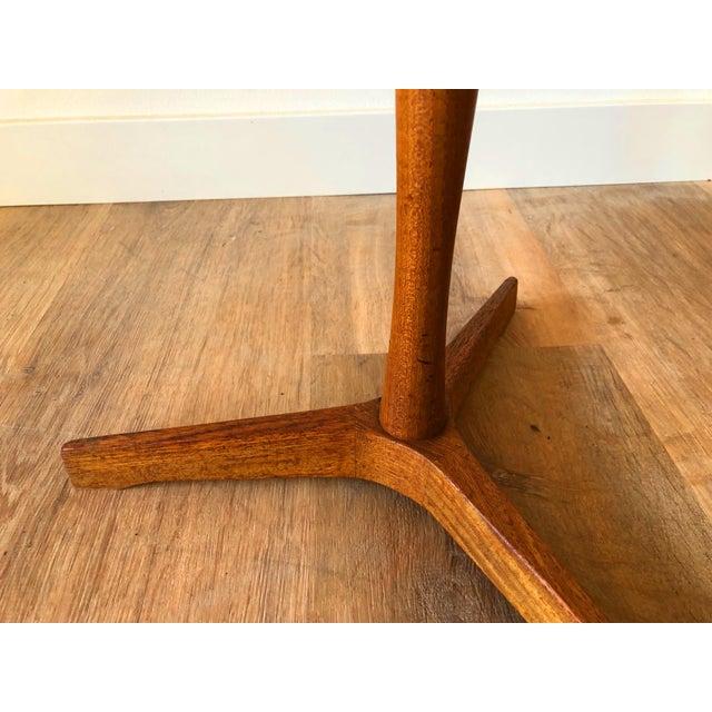 Hans Andersen Hans Anderson Mid-Century Danish Teak Pedestal Accent Table For Sale - Image 4 of 8