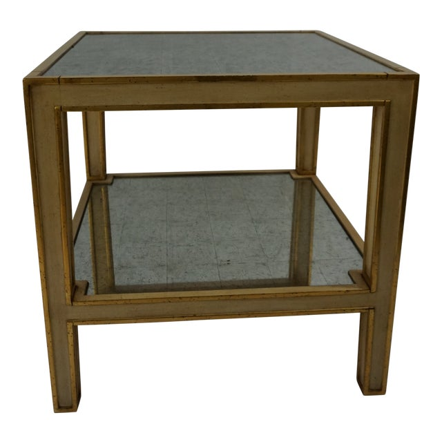 Eglomise Side Table For Sale