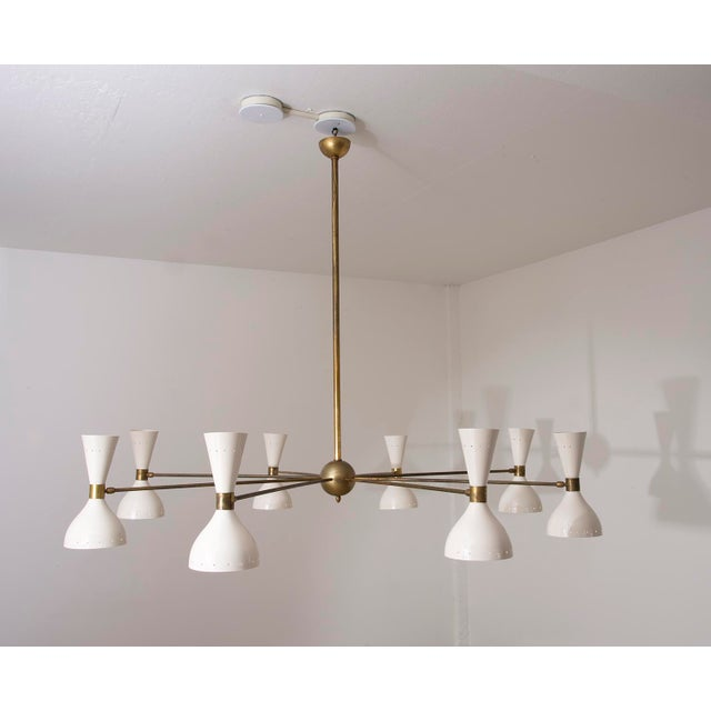 Stilnovo Eight Arm Diabolo Chandelier, Italy, 1950s For Sale - Image 12 of 12