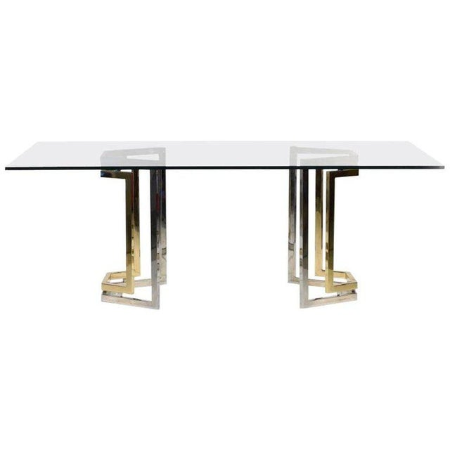 Metal 20th Century Desk or Dining Table in the Style of Romeo Rega For Sale - Image 7 of 7