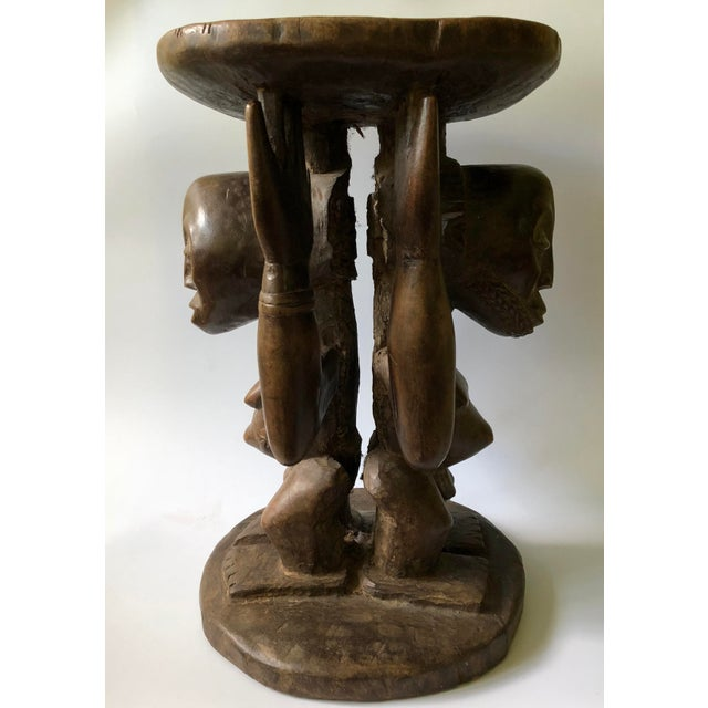 Tribal hand-carved stools were used by African kings and chieftains, who displayed their power through the use of...
