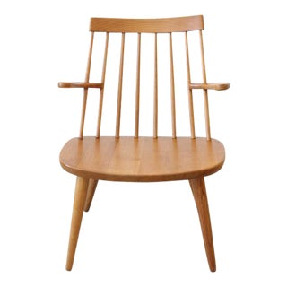 1950s Scandinavian Modern Yngve Ekström Sibbo Oak Armchair For Sale