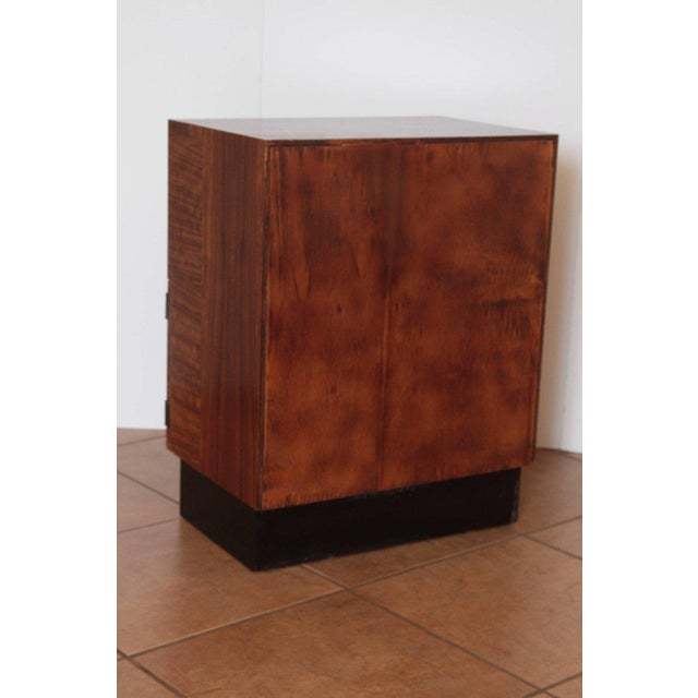 Silver Art Deco Machine Age Gilbert Rohde Herman Miller, 1934 East India Laurel Cabinet For Sale - Image 8 of 10