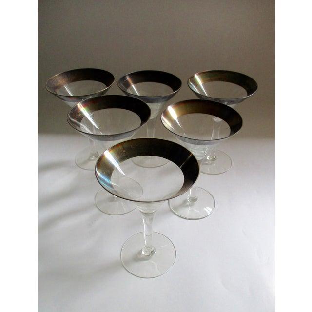Dorothy Thorpe Silver Rim Champagne Glasses - Set of 6 - Image 8 of 10