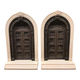 Late 20th Century Architectural Model Bookends- A Pair For Sale