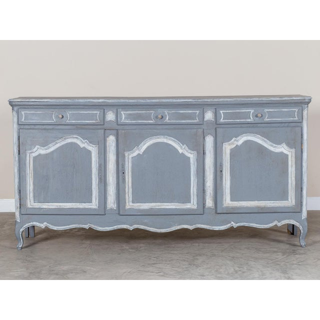 French Antique French Louis XV Style Painted Oak Buffet Circa 1875 For Sale - Image 3 of 9