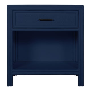 Bermuda One-Drawer Nightstand - Navy Blue For Sale