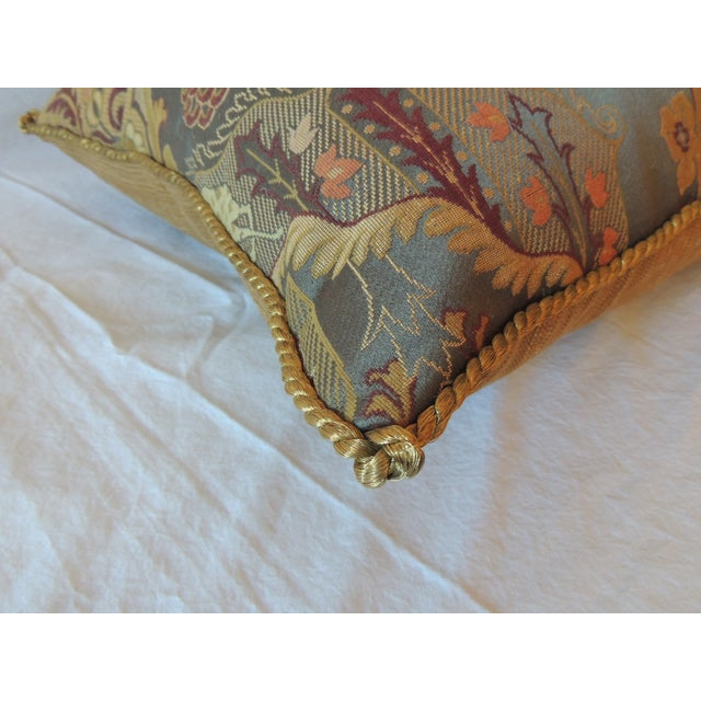 Vintage Brocaded Textile Silk Pillow. - Image 4 of 5
