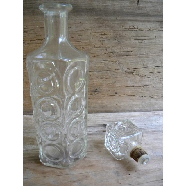 Mid-Century Glass Liquor Decanter For Sale - Image 5 of 5