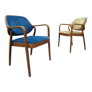 1970's Don Pettit for Knoll Bentwood Armchairs for Repair