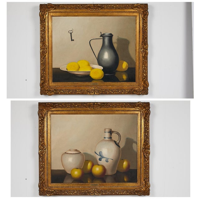 Pair of 19th Century Still Life Oil Paintings For Sale - Image 13 of 13