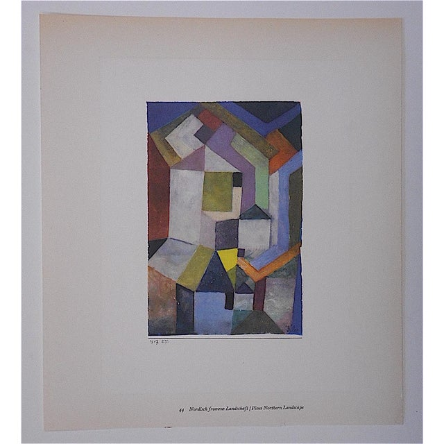 This lithograph (offset) depicts an abstract image created by the modernist master, Paul Klee (Switzerland/Germany...