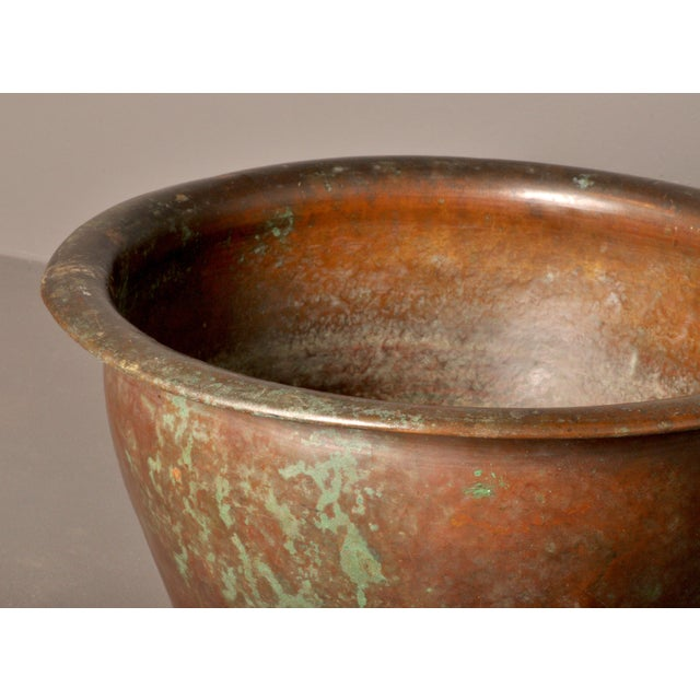 Hammered Copper Pot, American- 1920s For Sale - Image 4 of 8