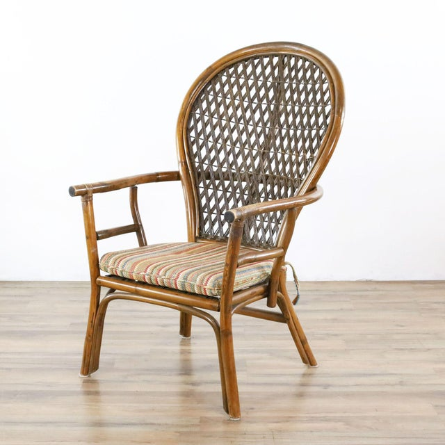Vintage McGuire Rattan Dining Set - 5 Pieces For Sale - Image 4 of 9
