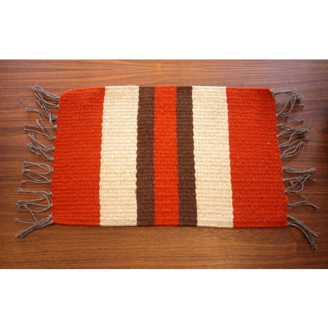 Boho Chic Vintage Woven Table Runner For Sale - Image 3 of 6