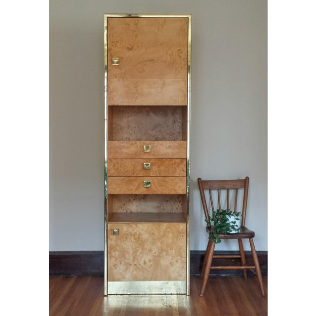 Founders Brass and Burl Storage Unit - Image 3 of 9
