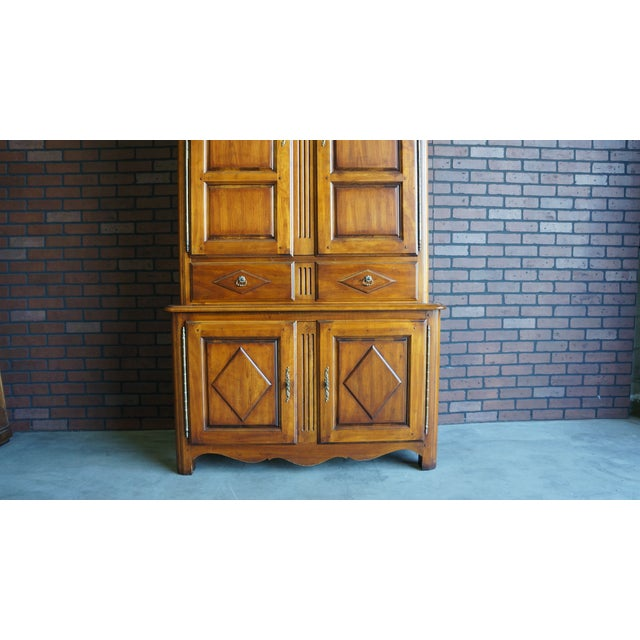 Wood 20th Century French Country Armoire For Sale - Image 7 of 11