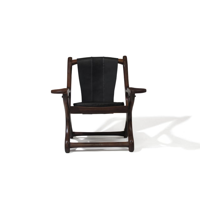 Mid-Century Modern Don Shoemaker Cocobolo Rosewood Swinger Chair For Sale - Image 3 of 9