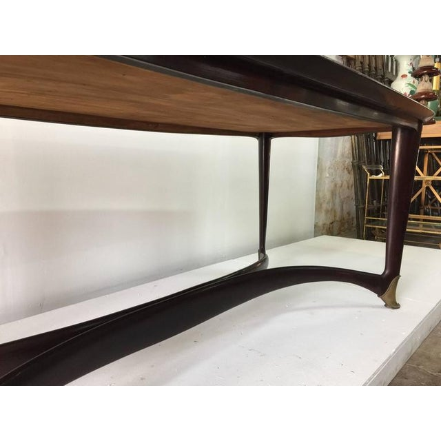 Paolo Buffa Reverse Painted Top and Walnut Italian Dining Table - Image 5 of 8