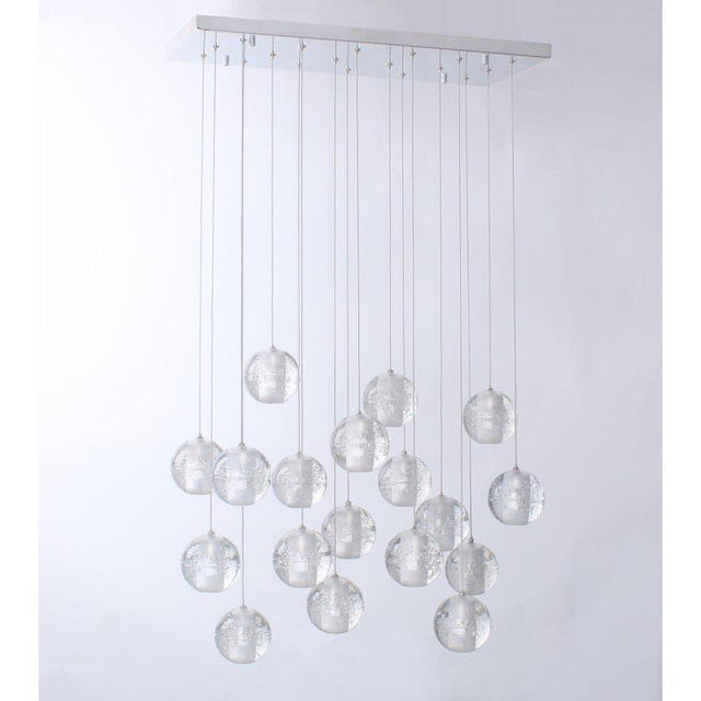 Metal Modern Meteor Shower Chandelier For Sale - Image 7 of 11