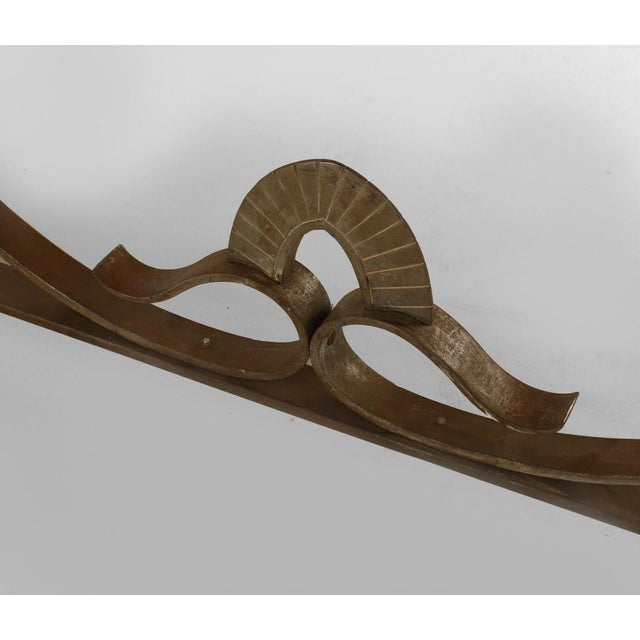 1930s French Art Deco Large Rectangular Iron Scroll Side Center Table For Sale - Image 5 of 8