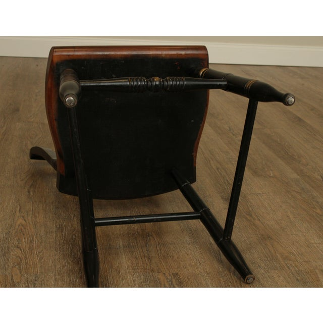 Hitchcock Eagle Painted Black & Maple Side Chair For Sale - Image 12 of 13