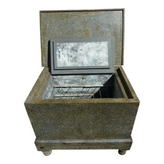 Antique Rustic Metal Ice Chest