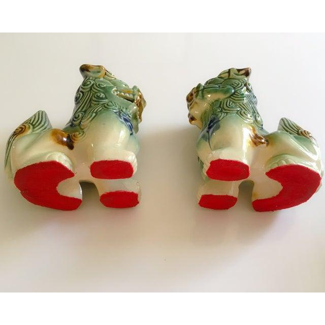 Ceramic Foo Dog Figurines - Pair - Image 7 of 10