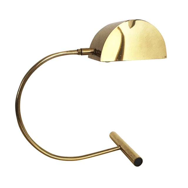 Koch and Lowy Brass Demilune Table Lamp - Image 1 of 11
