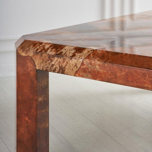Lacquered Goat Skin Coffee Table For Sale In Chicago - Image 6 of 8