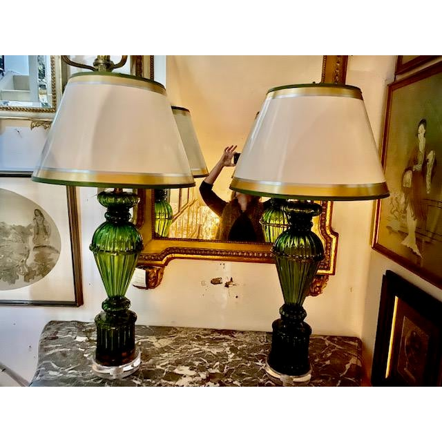 Vintage Murano Glass Lamps - a Pair For Sale In Los Angeles - Image 6 of 8