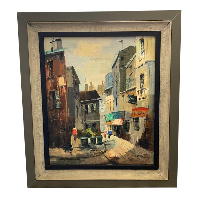 French Impressionist Street Scene Oil Painting For Sale