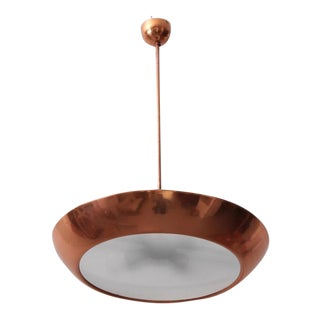 1930s Copper and Glass Pendant Lamp by Josef Hurka for Napako, 1 of 4 For Sale