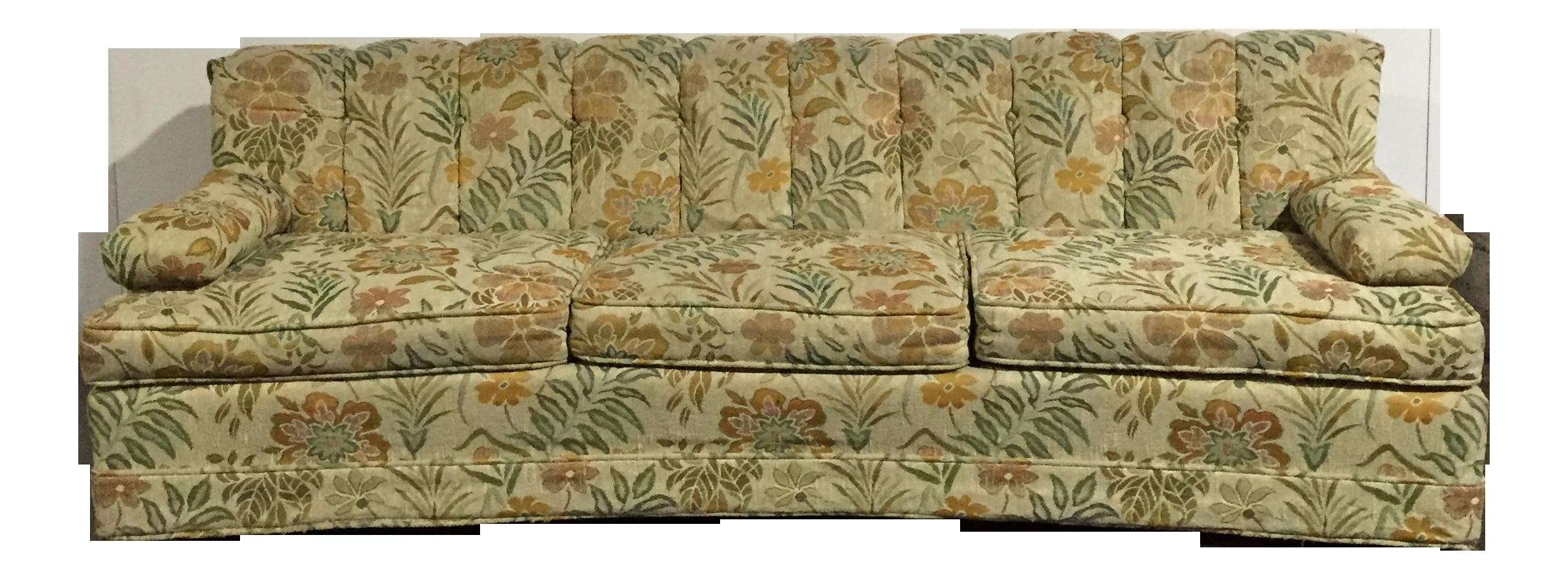 Vintage 60s Retro Floral Sofa