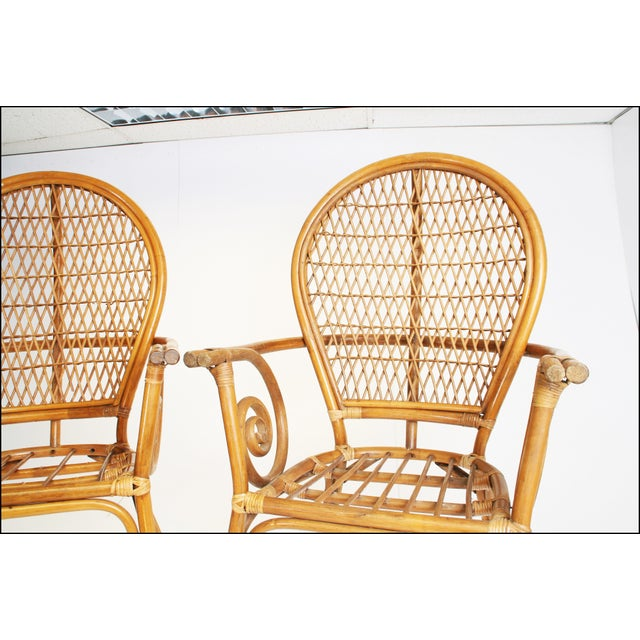 Vintage Bamboo Bentwood Chairs - A Pair For Sale - Image 10 of 11