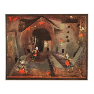 "1955 Paul Klee, First Edition Lithograph ""Dance of the Red Skirts"" For Sale"