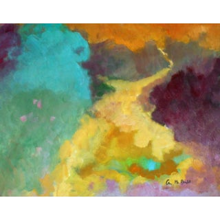 """""""Road to Take"""" Contemporary Abstract Oil Painting by Ann Cameron McDonald For Sale"""