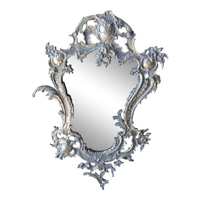 1940s Vintage Portugal Art Nouveau Accent Mirror For Sale