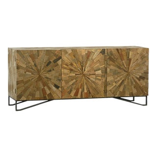 Reclaimed Wood Sunburst Sideboard