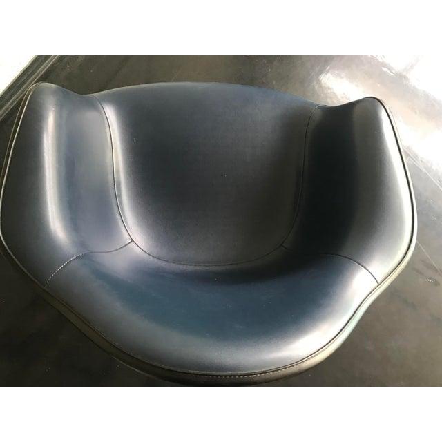 Blue 1970s Herman Miller Vinyl Shell Chair For Sale - Image 8 of 9