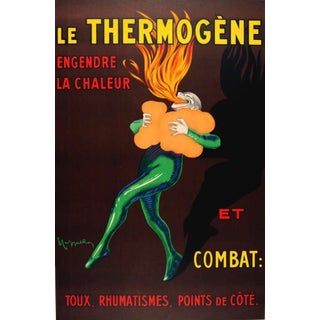 """Large 68"""" Tall Capiello Le Thermogene Advertising Poster Framed For Sale"""
