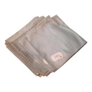 Contemporary Silver Gray Tone on Tone Never Used Dinner Napkins - Set of 16 For Sale