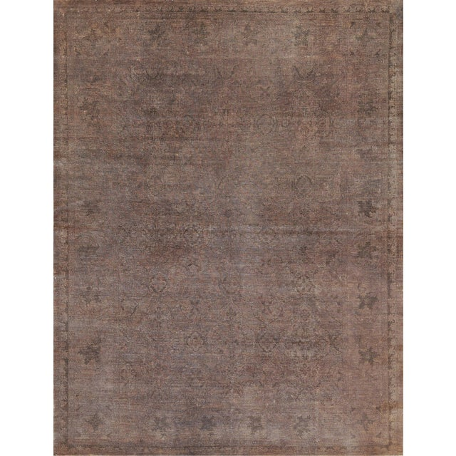 Handwoven Wool Agra Style Rug For Sale