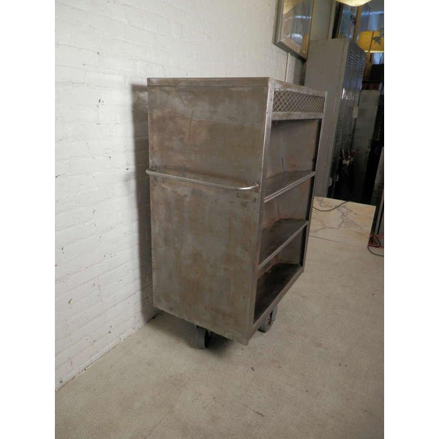 Industrial Large Industrial Metal Rolling Cart For Sale - Image 3 of 9